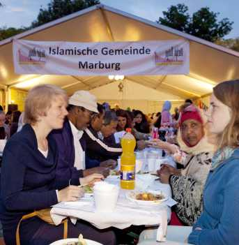 Ramadanzelt in Marburg.